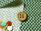 和風コットン生地・かのこ柄(緑)