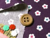 和風コットン生地・花あられ(紫)