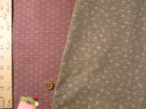 和風コットン生地・リバーシブル 桜と麻の葉(ベージュ/ピンク)