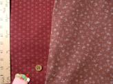 和風コットン生地・リバーシブル 桜と麻の葉(ピンク/あかね色)