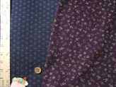 和風コットン生地・リバーシブル 桜と麻の葉(紫/濃紺)