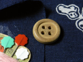 和風コットン生地・匠 日本の伝統玩具(紺)