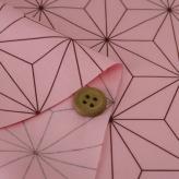 コットン生地 大きな麻の葉柄(ピンク)