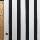 コットン生地 大きなストライプ柄(白/黒)