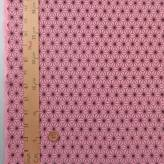 ムラ糸モーリークロス 手捺染 小さめ麻の葉柄(ピンク)