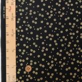 和柄コットン生地 金の小桜(黒)