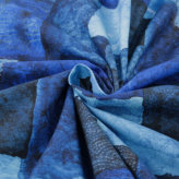コットン生地・青い刺し子のパッチワーク