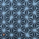 和柄コットン生地 あさつなぎ 150cm幅(藍色) 10cm単位 切り売り