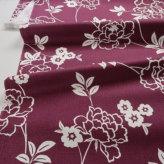 和柄コットン生地 モダン牡丹 150cm幅(赤紫)