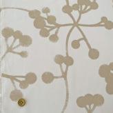 コットン生地 北欧風シンプル植物柄 150cm幅(アイボリーベージュ) 10cm単位 切り売り