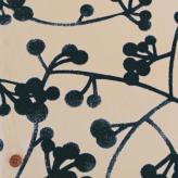 コットン生地 北欧風シンプル植物柄 150cm幅(アイボリーブルー) 10cm単位 切り売り