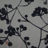 コットン生地 北欧風シンプル植物柄 150cm幅(グレー) 10cm単位 切り売り