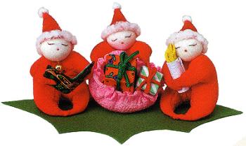 キット・ちりめん手芸 サンタさんの贈り物