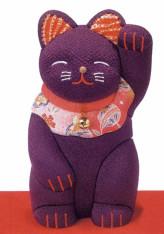 木目込キット・招き猫(紫)