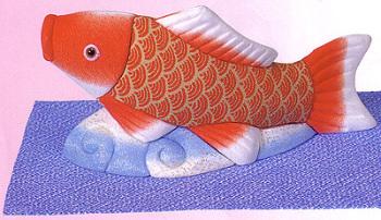 木目込キット・実り緋鯉