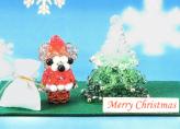 キット・クラフトビーズで作る クリスタルクリスマス(ツリー&サンタ)