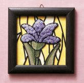 キット・メタリックヤーンで作るお花のタペストリー 菖蒲