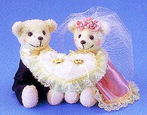 キット・クマのリングピロー(ピンク)