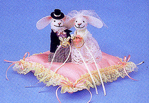 キット・ウサギのリングピロー(ピンク)