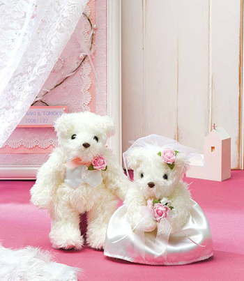 キット・天使のホワイトベア(ピンク)