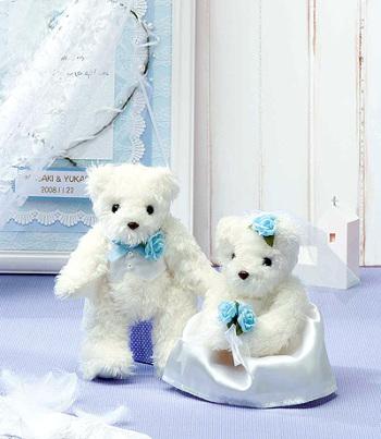 キット・天使のホワイトベア(ブルー)