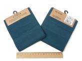 コットン生地・あづみ野木綿(藍鼠):カット布・54×45cm
