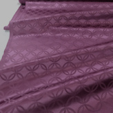 ポリエステル生地 W巾 サテンジャカード 七宝文様(赤紫)