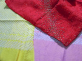 正絹本絞りはぎれ3枚セット(35×70cmが3枚)