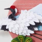 手作りキット つまみ細工のミニ歳時記 鶴と松