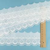 細幅 国産綿レース(白)