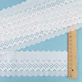 細幅 国産綿レース(白) 6cm幅×2m アールデコ風