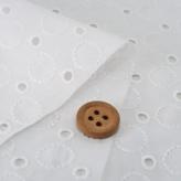 綿レース生地 国産60ローン(50cmカット) サークル模様・白