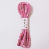 ちりめん丸ひも(1.8m巻)友禅柄・5ミリ 桜柄(ピンク)