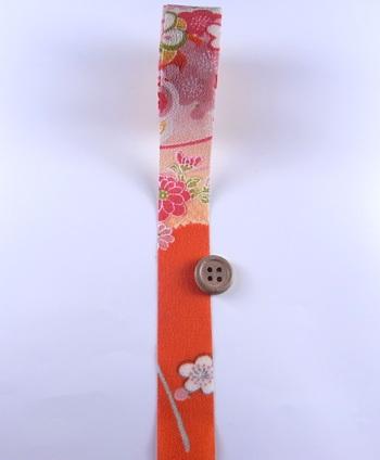 一越ちりめんカットロール・柄・2.5cm幅(オレンジ)