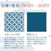 着物柄のクロス・ステッチキット 藍