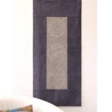 刺し子紬「家紋柄コレクション1」約108×61cm (洗うと消えるプリント)