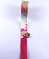 一越ちりめんカットロール・柄・2.5cm幅(赤紫)