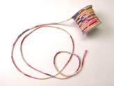 ちりめん丸ひも・柄・2ミリ(実寸約3ミリ) 重ね桜・紫/ピンク