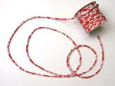 ちりめん丸ひも・柄・2ミリ(実寸約3ミリ) 桜レトロ・赤