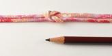 ちりめん丸ひも・柄・2ミリ(実寸約3ミリ) 桜重ね・ピンク