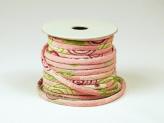 ちりめん丸ひも・柄・2ミリ(実寸約3ミリ) 渦桜・ピンク