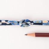 ちりめん丸ひも・柄・2ミリ(実寸約3ミリ)春爛漫・紺
