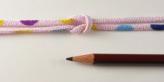 ちりめん丸ひも・モダン柄・2ミリ(実寸約3ミリ) 色まる・ピンク