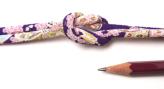 ちりめん丸ひも・柄・3ミリ(実寸約4ミリ) 小桜(紫)