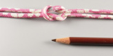 ちりめん丸ひも・柄・3ミリ(実寸約4ミリ) 花笑み・ピンク