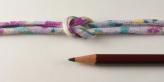 ちりめん丸ひも・柄・3ミリ(実寸約4ミリ) 流水桜・薄紫