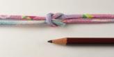 ちりめん丸ひも・柄・3ミリ(実寸約4ミリ) 夢椿・ピンク
