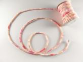 ちりめん丸ひも・柄・3ミリ(実寸約4ミリ) 桜重ね・ピンク