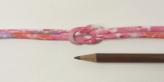 ちりめん丸ひも・柄・3ミリ(実寸約4ミリ) みだれ桜・ピンク