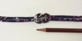 ちりめん丸ひも・柄・3ミリ(実寸約4ミリ) 桜はしり・紺